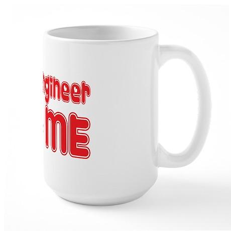 A Recording Engineer Loves Me Large Mug