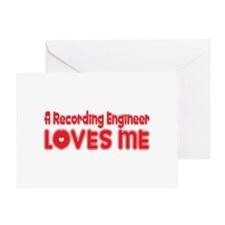A Recording Engineer Loves Me Greeting Card
