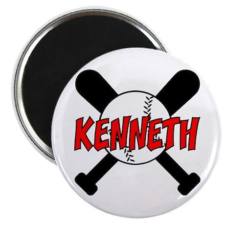 """Kenneth Baseball 2.25"""" Magnet (10 pack)"""