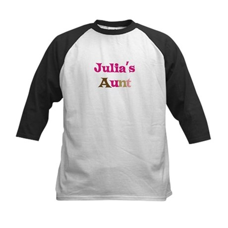 Julia's Aunt Kids Baseball Jersey