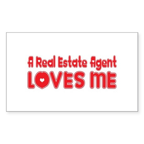 A Real Estate Agent Loves Me Rectangle Sticker