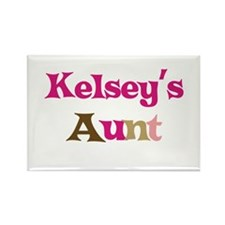 Kelsey's Aunt Rectangle Magnet