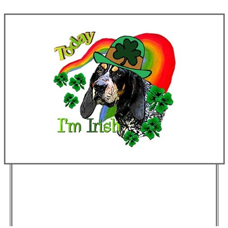 St Pat's Bluetick Coonhound Yard Sign