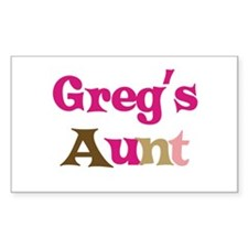 Greg's Aunt Rectangle Decal