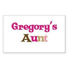 Gregory's Aunt Rectangle Decal