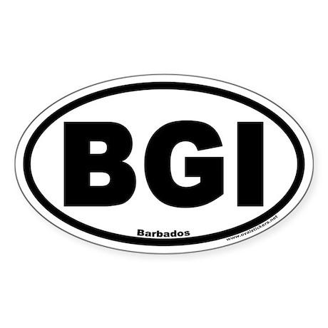 Barbados BGI Euro Oval Stickers