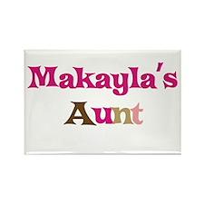 Makayla's Aunt Rectangle Magnet