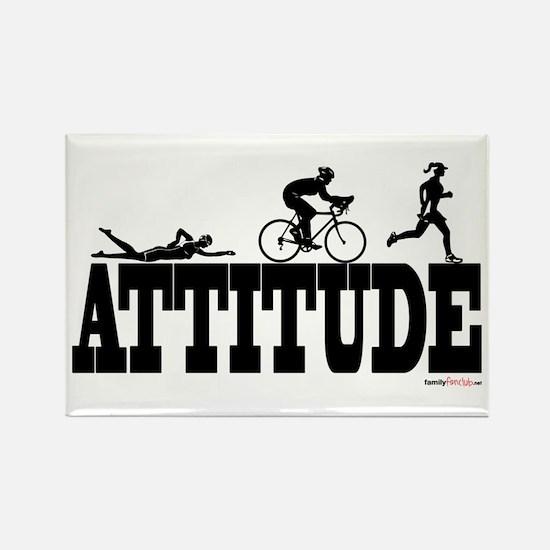 Attitude Triathlon Rectangle Magnet