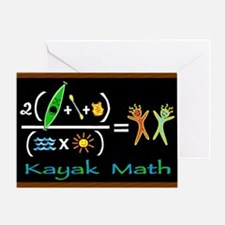kayak math blackboard Greeting Card