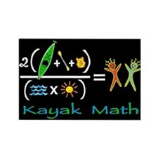 kayak math blackboard Rectangle Magnet