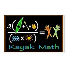 kayak math blackboard Rectangle Decal