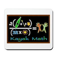 kayak math blackboard Mousepad