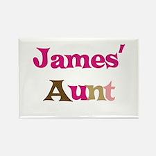James's Aunt Rectangle Magnet