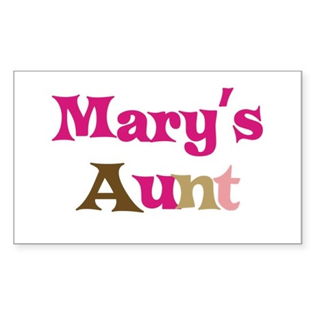 Mary's Aunt Rectangle Sticker