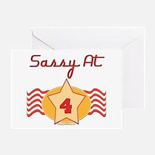 Sassy At 4 Greeting Card