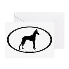 ibizan hound oval Greeting Card