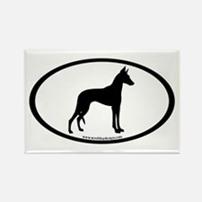 ibizan hound oval Rectangle Magnet