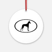 ibizan hound oval Ornament (Round)