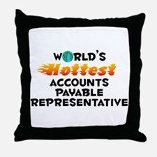 World's Hottest Accou.. (C) Throw Pillow
