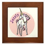 Jesaia Unicorn Framed Tile