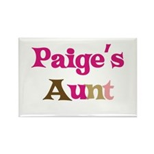 Paige's Aunt Rectangle Magnet