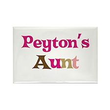 Peyton's Aunt Rectangle Magnet