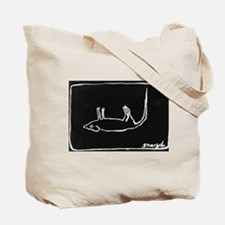 Novelty art Dead Rat Tote Bag