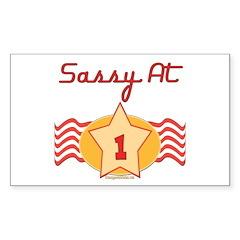 Sassy At 1 Rectangle Sticker