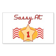 Sassy At 1 Rectangle Decal