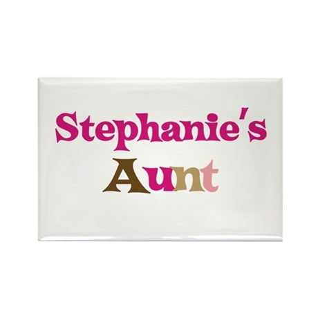 Stephanie's Aunt Rectangle Magnet