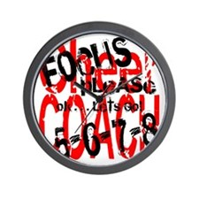 Focus Please - red/white Wall Clock