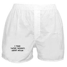 Nolan (impure thoughts} Boxer Shorts