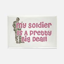 Unique Soldiers girlfriend Rectangle Magnet