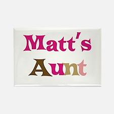 Matt's Aunt Rectangle Magnet