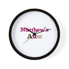 Matthew's Aunt  Wall Clock