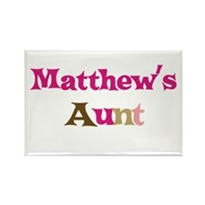 Matthew's Aunt Rectangle Magnet