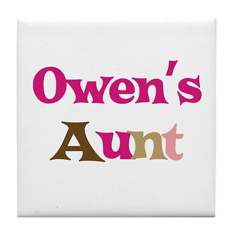 Owen's Aunt Tile Coaster