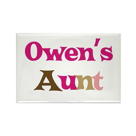 Owen's Aunt Rectangle Magnet