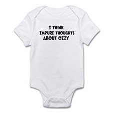 Ozzy (impure thoughts} Infant Bodysuit