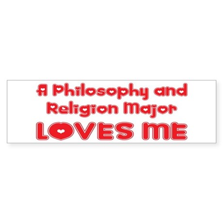 A Philosophy and Religion Major Loves Me Sticker (