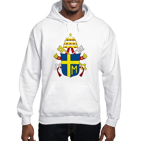 Pope John Paul II Coat of Arm Hooded Sweatshirt