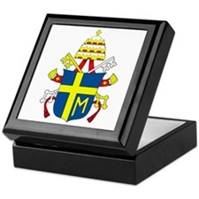 Pope John Paul II Coat of Arm Keepsake Box
