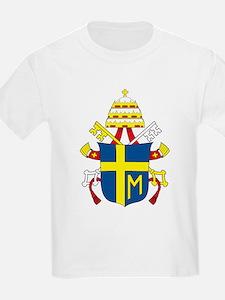 Pope John Paul II Coat of Arm Kids T-Shirt