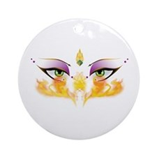 Belly Dance Shimmy Chic Ornament (Round)