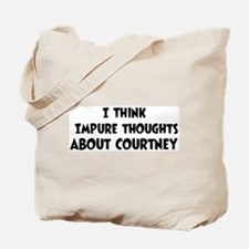 Courtney (impure thoughts} Tote Bag