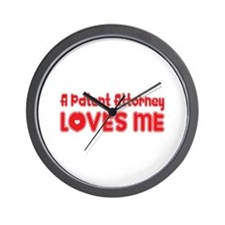 A Patent Attorney Loves Me Wall Clock