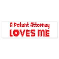 A Patent Attorney Loves Me Bumper Bumper Sticker