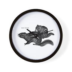 Eastern Chipmunks Wall Clock