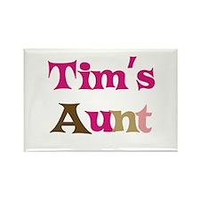 Tim's Aunt Rectangle Magnet