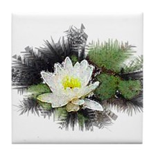 water lilly Tile Coaster